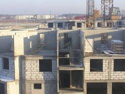 Bau von Mehrfamilienhaus